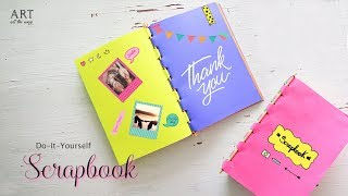 How to make Scrapbook with Sticks   Back to School Craft Ideas