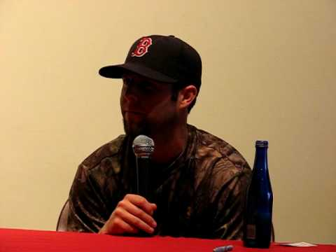 Dustin Pedroia gives a great private interview to Red Sox fans in Philadelphia-June 2009