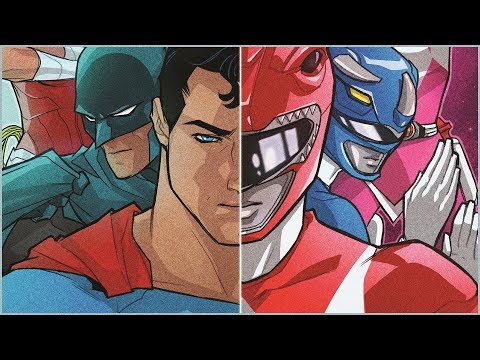 Justice League vs Power Rangers