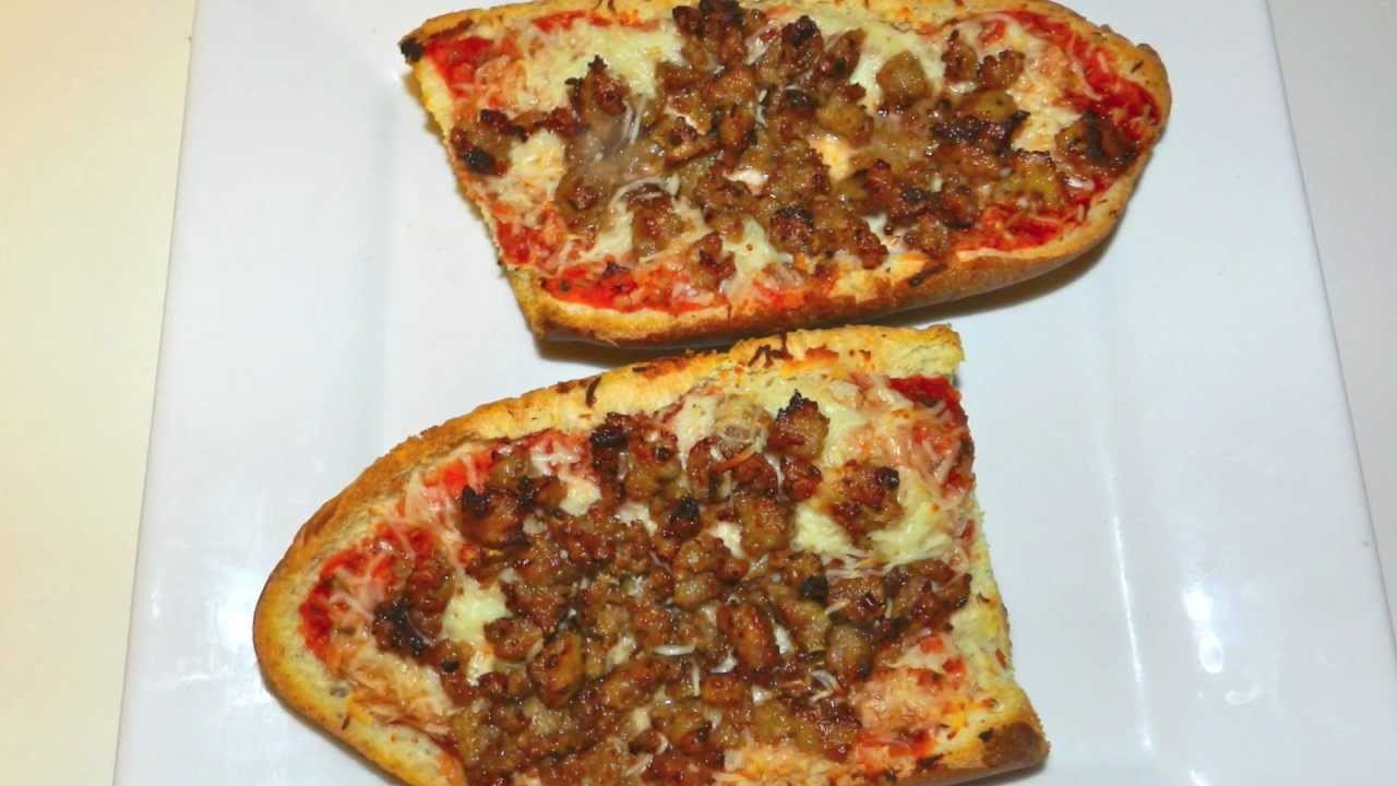 French Bread Pizza Recipe Sauce From Scratch And Hot Italian Sausage YouTube