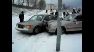 Winter accident from Poland and Russia. Funny video