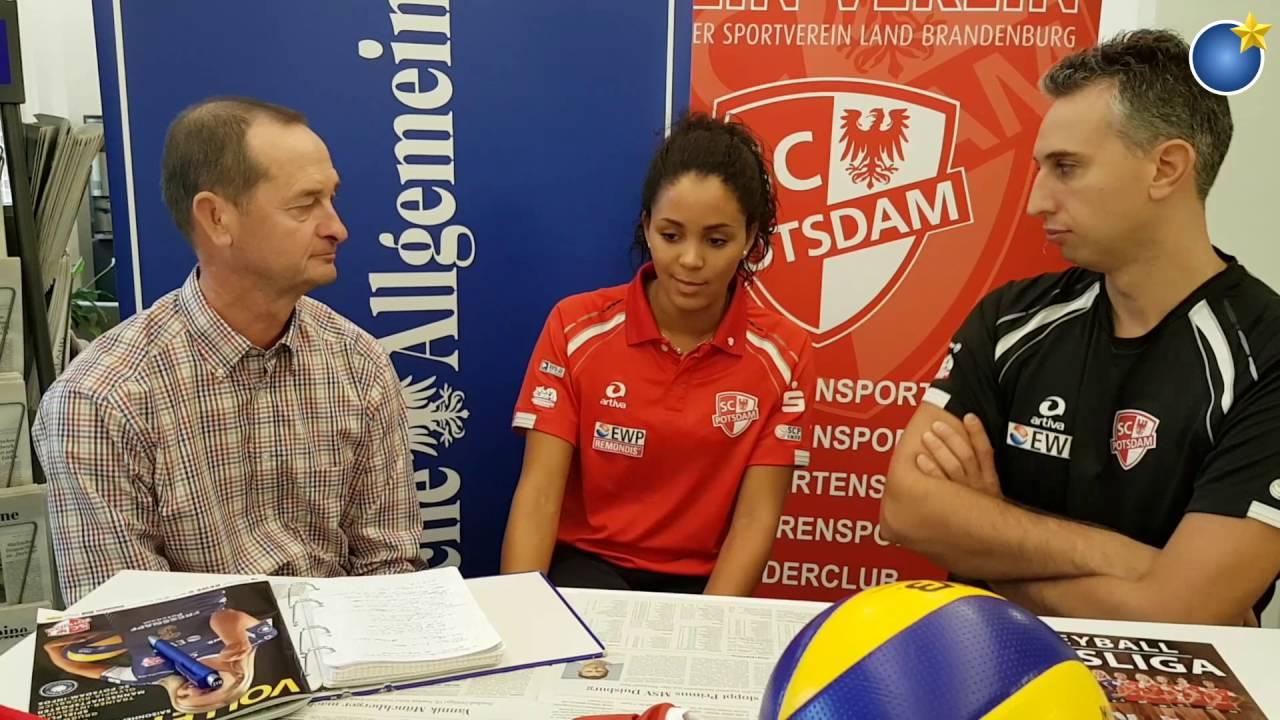 Volleyball-Talk mit Denise Imoudu und Davide Carli vom SC Potsdam
