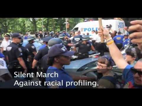 JS: End Stop and Frisk: Silent March Against Racial Profiling. 2of2. 6/17/2012.