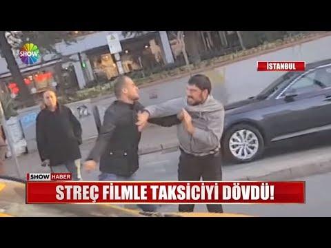 Streç filmle taksiciyi dövdü!