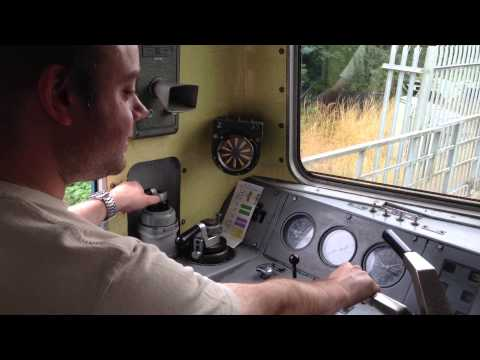 Driving a Class 73 diesel-electric loco at Spa Valley Railway