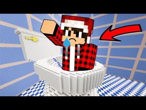 ماين كرافت : القفز في المرحـاض !! ( اجمل ماب دروبر )