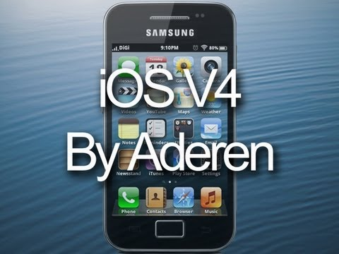 iOS ROM V4 for Samsung Galaxy Ace