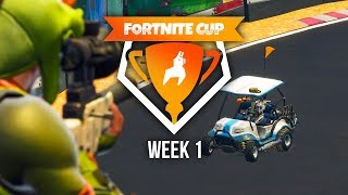 SNIPER VS DRIVERS - Fortnite Cup Mini-Game week 1