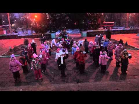 Флешмоб на новый год в детском саду