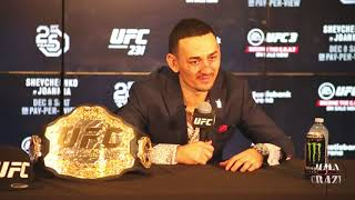"Max Holloway on Khabib, Tony Ferguson & Conor McGregor ""they all can get it"""