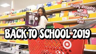 BACK TO SCHOOL SUPPLY SHOPPING + HAUL + GIVEAWAY 2019