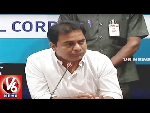 Minister KTR Review Meet With GHMC Officials On Sanitary And Damaged Roads In Hyderabad | V6 News