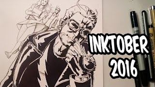 Dibujo a Mercurio para el Inktober | Drawing Quicksilver for the Inktober