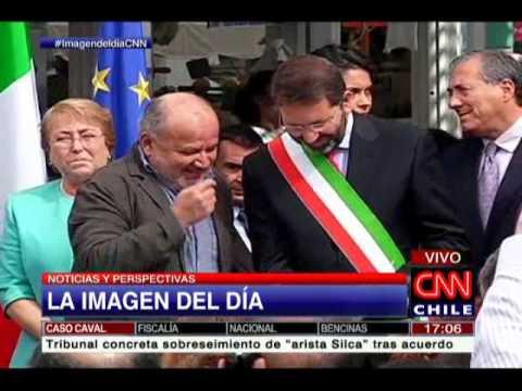 Imagen del dia: Gira de Michelle Bachelet en Italia