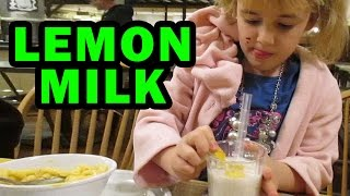 Drinking Lemon Milk