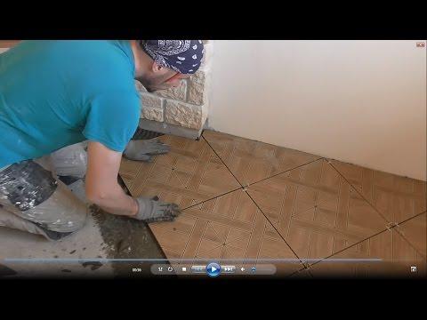 Как положить плитку на неровный пол в ванной