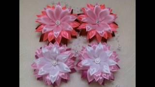 Канзаши новые идеи цветков мастер класс фото с пошаговым