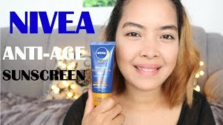NIVEA SUN Anti-Age Protection Face Suncream High SFP 50|REVIEW Emmas Veelog