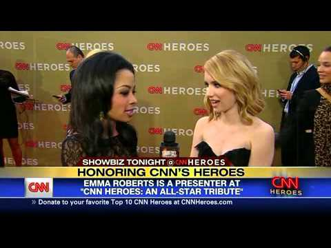 Emma Roberts - CNN Heroes An All-Star Tribute Presenting + Red Carpet Interview [EmmaRobertsBR.com]