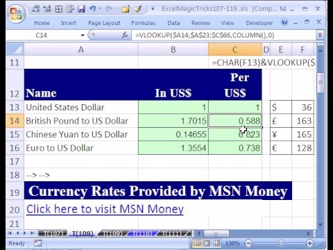Forex rates excel
