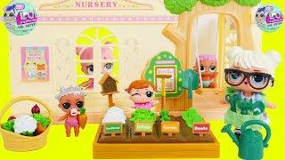 LOL Surprise Dolls Lil Sisters Learn Garden Foods