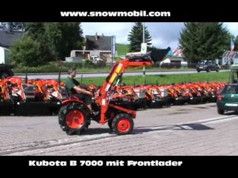 kleintraktor kubota b7000 mit frontlader youtube. Black Bedroom Furniture Sets. Home Design Ideas