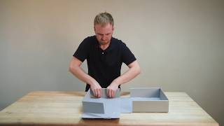 Assembly Instructions: Drop-Front Clamshell Box