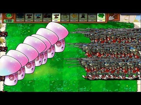 Plants vs Zombies Hack - Pole Vaulting Zombies vs Giant Hypno Shroom
