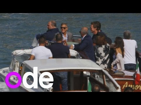 George Clooney pre-wedding pictures: Actor and wife-to-be Amal Alamuddin seen in Venice