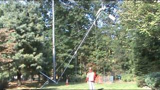 Raising the Homebrew Homemade Wind Turbine Wind Tower wind generator