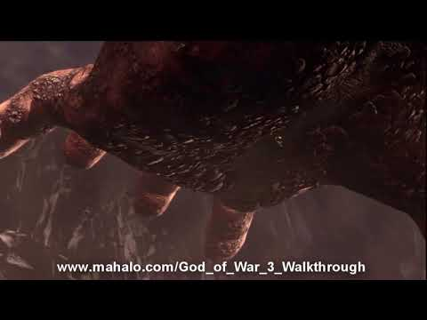 God of War III Walkthrough - Cronos Boss Battle Part 1 HD