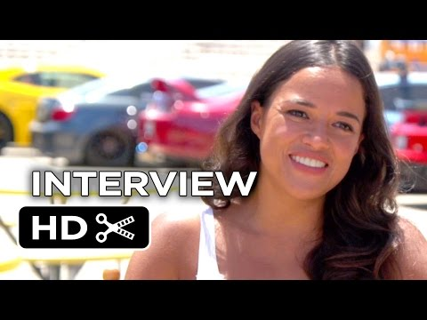 Furious 7 Interview - Michelle Rodriguez (2015) - Paul Walker, Vin Diesel Movie HD