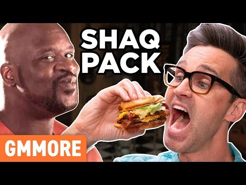 Discontinued Shaq Pack Burger Taste Test
