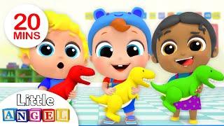 Playtime with New School Friends | Preschool Friends Song | Nursery Rhymes by Little Angel