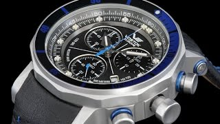 Vostok Europe 6S30-6205213 Lunokhod II Chronograph Watch w Tritium Illumination