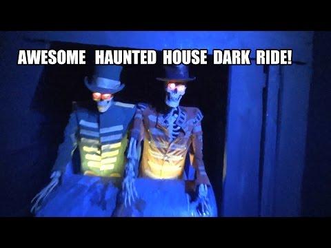 Bla Taget Ghost Train Haunted House Dark Ride Grona Lund Sweden...