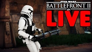 NEW UPDATE IS HERE! LETS HUNT SOME HEAVIES! STAR WARS BATTLEFRONT II LIVE