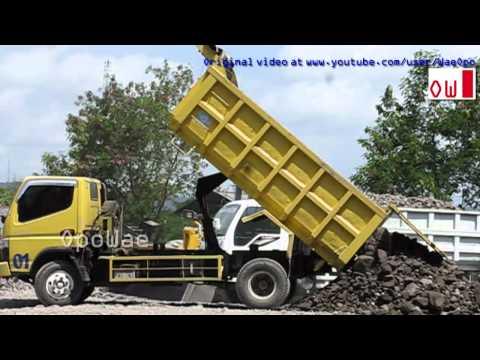 Dump Truck Mitsubishi Fuso Canter Isuzu Elf Unloading Stone