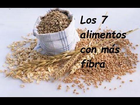 Los 7 alimentos con más fibra