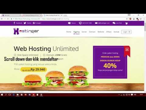 Cara Hosting dan Membuat Website Gratis Dengan IDHostinger Terbaru 2017