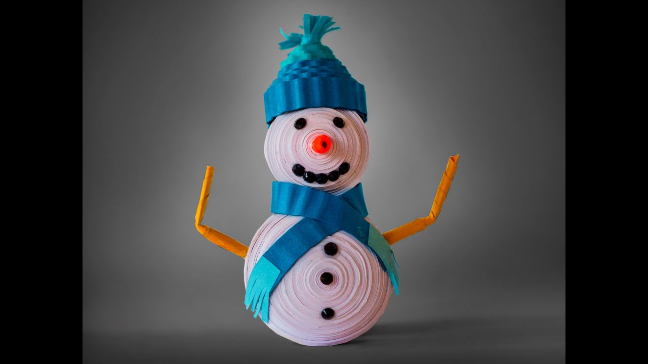 How to Make Quilling Snowman - YouTube