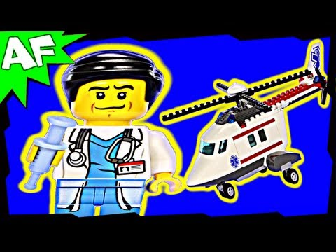 HOSPITAL Helicopter Rescue 4429 Lego City Animated Building Review