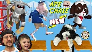 THERE'S AN APE CHASING MY DOG OREO & MAILMAN POSTAL JENKINS! (NEW FGTeeV Game News)