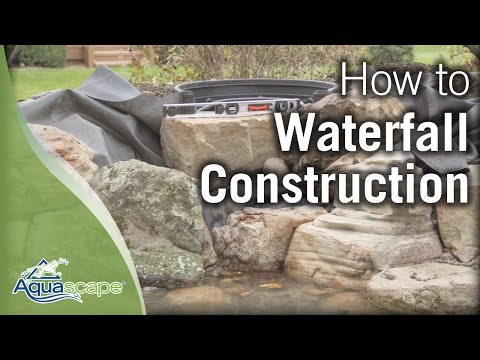Aquascape's Step-by-Step Waterfall Construction