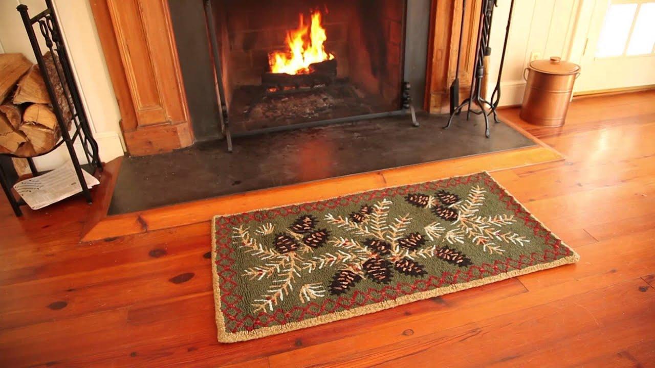 Fire Resistant Hooked Wool Pine Cone Rug Sku 33720 Plow