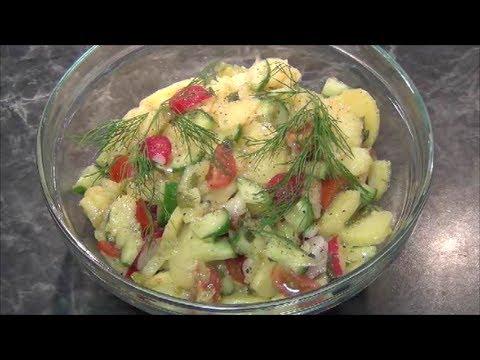 Рецепт: Немецкий картофельный салат - Хрустящий.