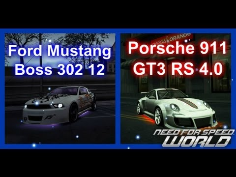 Need For Speed World Ford Mustang Boss 302 12 и Porsche 911 GT3 RS 4.0