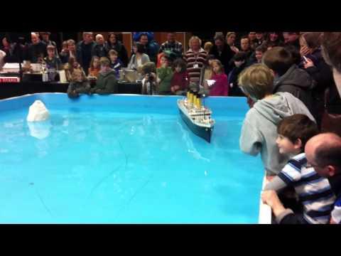 Massive floating replica of the Titanic!