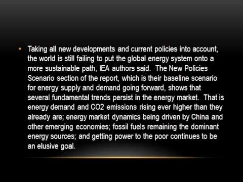Global Energy System 'Unsustainable', Climate Heating - IEA -- Forbes