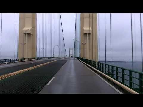 Crossing The Mackinac Bridge Northbound